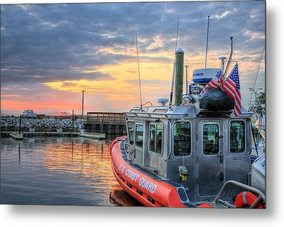 Us Coast Guard Defender Class Boat Metal Print by JC Findley