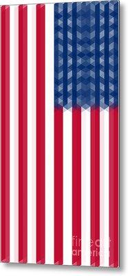 Us  Flag Vertical Metal Print