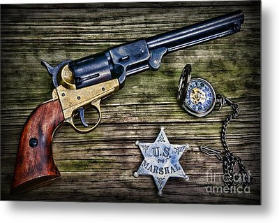 Us Marshall - American Justice - Cowboy Metal Print by Paul Ward