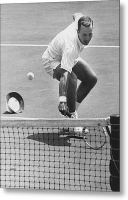 U.s. Mexico Davis Cup Playoffs Metal Print by Underwood Archives