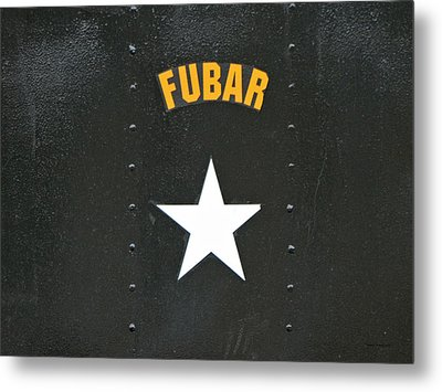 Us Military Fubar Metal Print by Thomas Woolworth