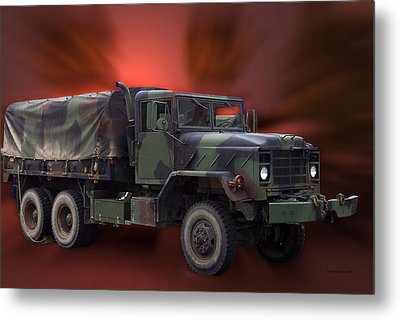 Us Military Truck Metal Print by Thomas Woolworth