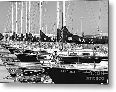 Us Navy 44 Sail Training Craft II Metal Print by Clarence Holmes