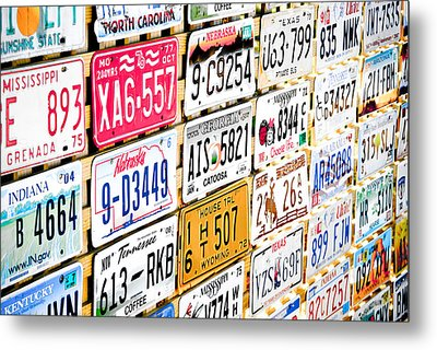 Us Plates Metal Print by Phil 'motography' Clark