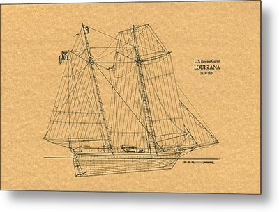 U.s. Revenue Cutter Louisiana Metal Print by Retro Images Archive