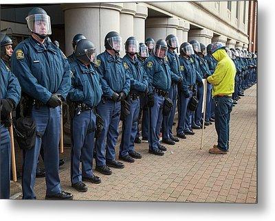 Us State Police Metal Print by Jim West