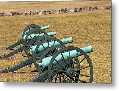 Usa, Arkansas Civil War Cannons At Pea Metal Print by Jaynes Gallery