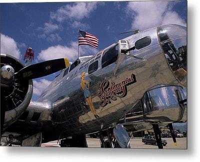 Usa, B-17 Bomber Aircraft, Salinas Metal Print