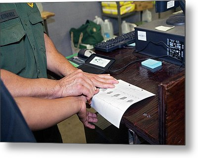 Usa Border Control Metal Print by Jim West