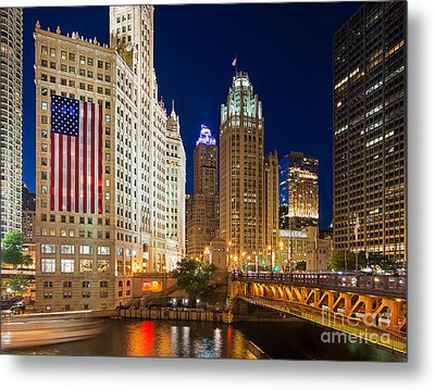 Usa - Chicago Metal Print by Jeff Lewis