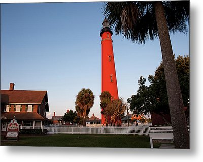 Usa, Florida, Ponce Inlet, Lighthouse Metal Print