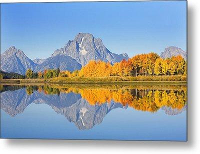 Usa, Grand Teton National Park Wyoming Metal Print by Ron Dahlquist