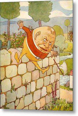 Usa Humpty Dumpty Book Plate Metal Print