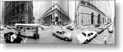 Usa, Illinois, Chicago, Vehicles Metal Print by Panoramic Images