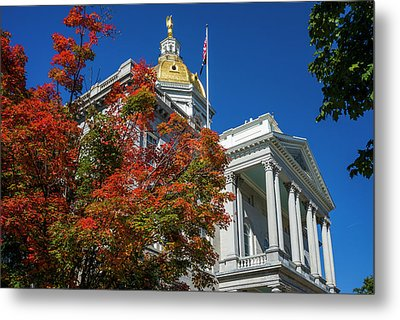Usa, New Hampshire, Concord, New Metal Print by Walter Bibikow