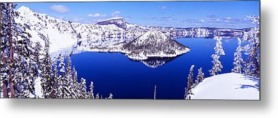 Usa, Oregon, Crater Lake National Park Metal Print by Panoramic Images