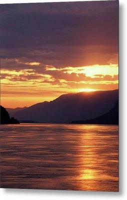 Usa, Oregon, View Of Columbia River Metal Print by Stuart Westmorland