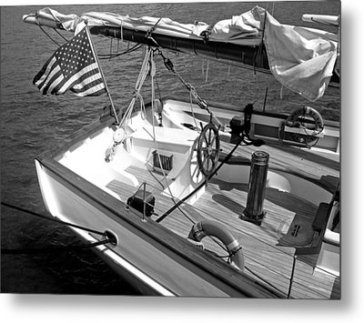 Metal Print featuring the photograph Usa Sailboat by Ellen Tully