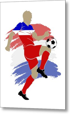 Usa Soccer Player Metal Print