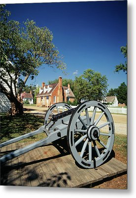 Usa, Virginia, Yorktown, Cannon Metal Print