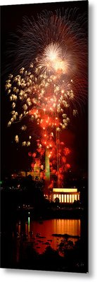 Usa, Washington Dc, Fireworks Metal Print by Panoramic Images