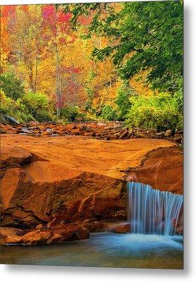 Usa, West Virginia, Douglass Falls Metal Print by Jaynes Gallery