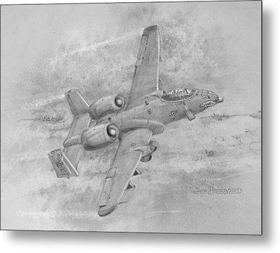 Usaf Fairchild-republic  A-10 Warthog Metal Print by Jim Hubbard