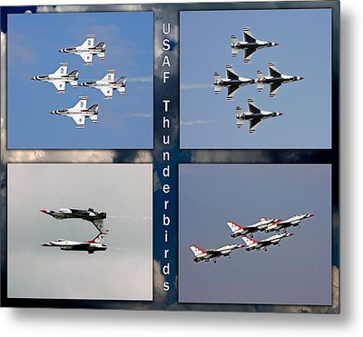 Metal Print featuring the photograph Usaf Thunderbirds by John Freidenberg