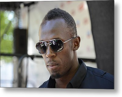 Metal Print featuring the photograph Usain Bolt - The Legend 3 by Teo SITCHET-KANDA