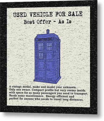 Used Time Machine Metal Print