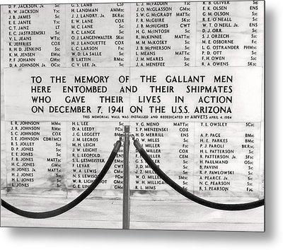 U.s.s. Arizona Pearl Harbor Memorial Metal Print by Barbara West