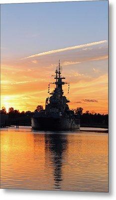 Metal Print featuring the photograph Uss Battleship by Cynthia Guinn
