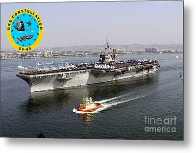 Uss Constellation  Metal Print by Baltzgar