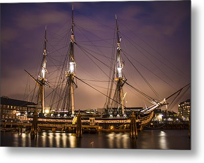 Uss Constitution Boston   Metal Print