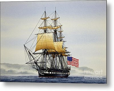 Uss Constitution Metal Print by James Williamson