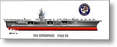 Uss Enterprise Cvn 65 1969 Metal Print by George Bieda