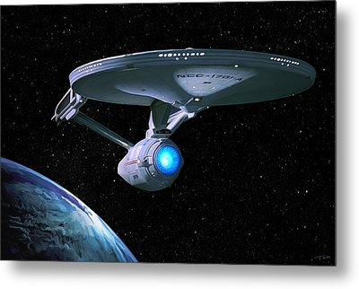 Uss Enterprise Metal Print by Paul Tagliamonte