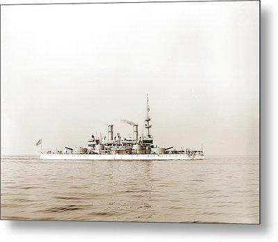 U.s.s. Indiana, Indiana Battleship, Battleships Metal Print