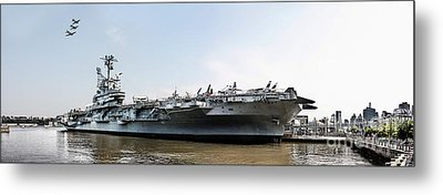 Uss Intrepid Sea-air-space Museum In New York City.  Metal Print by Nishanth Gopinathan