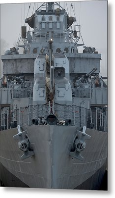Uss Kidd Dd 661 Front View Metal Print by Maggy Marsh