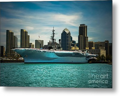 Uss Midway Museum Cv 41 Aircraft Carrier Metal Print by Claudia Ellis