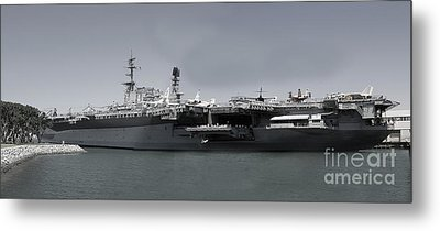 Uss Midway Metal Print by Russell Christie