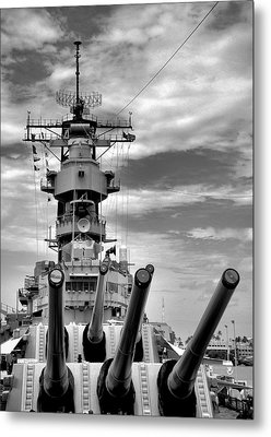 Uss Missouri Guns  Metal Print