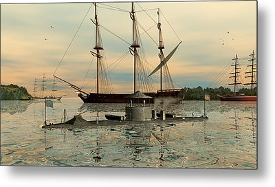 Uss Monitor Metal Print by Walter Colvin
