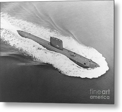 Uss Nautilus Worlds First Atomic Submarine Metal Print by Science Source