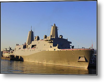 Uss New York - Lpd21 Metal Print by Dora Sofia Caputo Photographic Art and Design