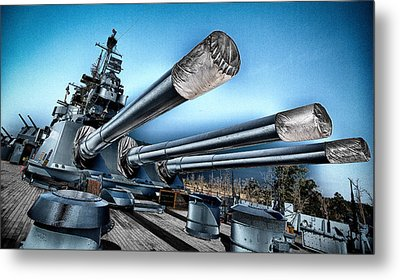 Uss North Carolina Battleship Metal Print