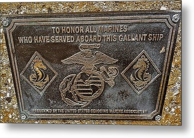 Metal Print featuring the photograph U.s.s. San Francisco Memorial Land's End by Bill Owen