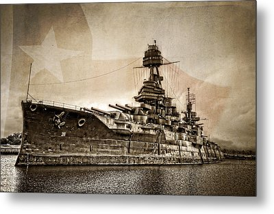 U.s.s. Texas Metal Print by Ken Smith