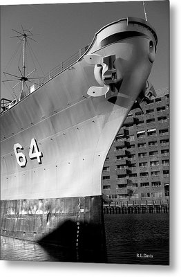 Metal Print featuring the photograph U.s.s. Wisconsin by Rebecca Davis